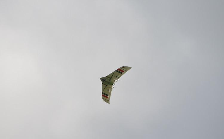 Imagen dron volando en cultivos de arroz